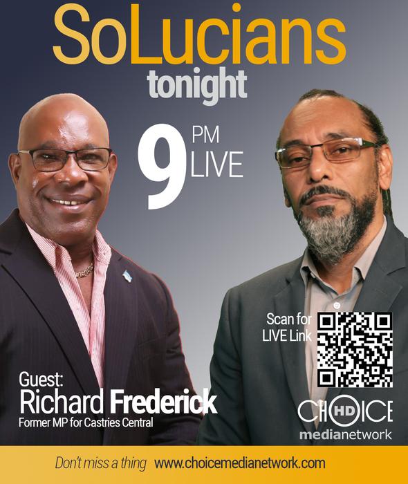 Richard Frederick is on SoLucians tonight!