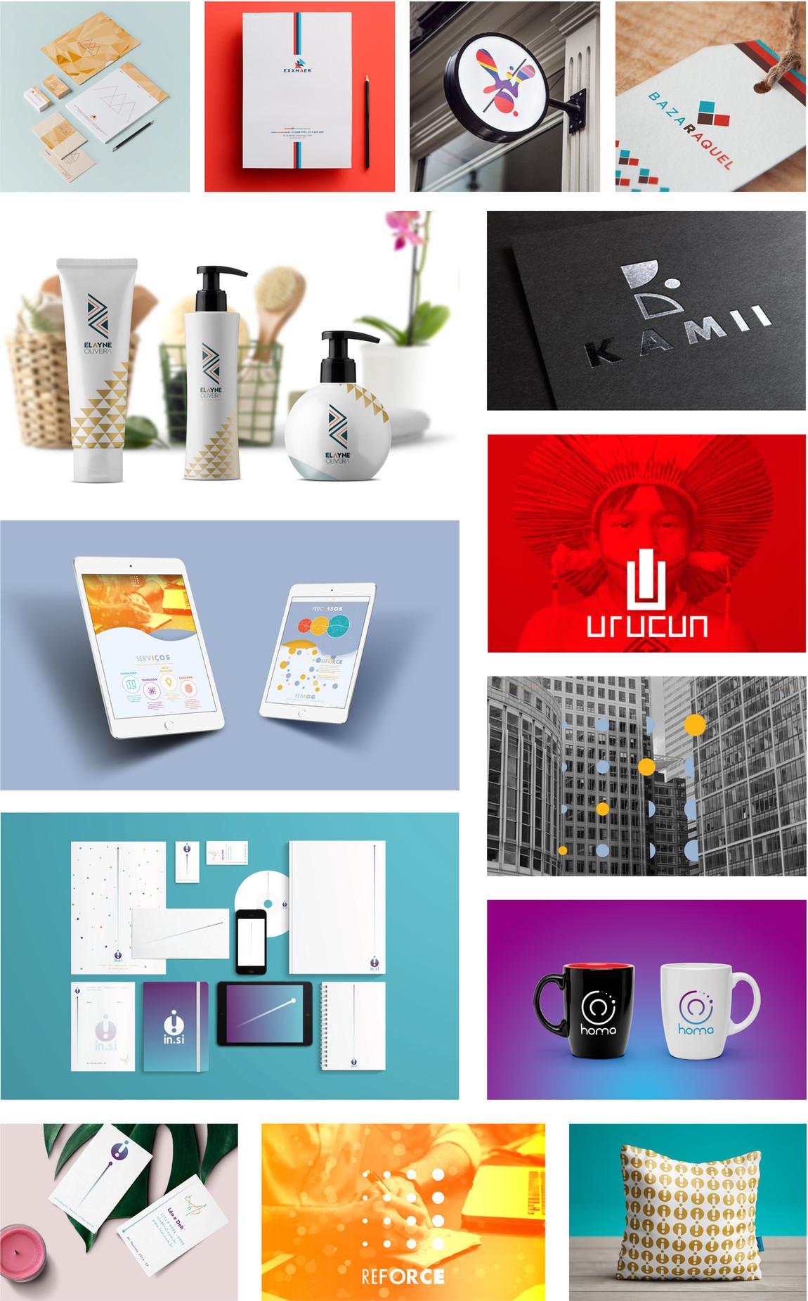 Incríveis projetos de idetidade corporativa e identidade visual para empesas, produtos e negócios de microempreendedoes, pequenos empeendedores e médios empreendedores