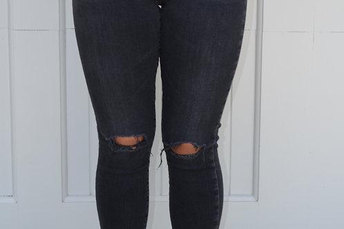 "Ag ""Legging Ankle"" Ripped Jeans"