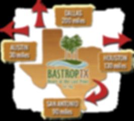 Bastrop location in Texas