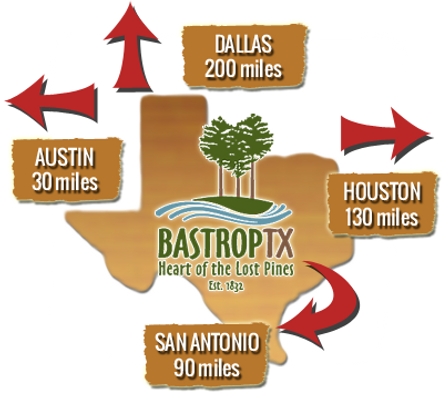 Bastrop location in Texas