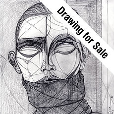 Drawing for Sale Icon, Drawing to Sell, Buy Original and hand signed Print Hand Design, Leon 47, Leon XLVII