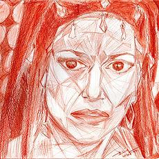 Drawing, Maria Callas, Medea, Triangulism, Metafisica