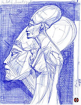 Art of Ancient Egypt (I), Sketch for Sale, Sell, Buy, Schizzo, Affordable Price, Antico Egitto, Antique Egypt, Sculpture, Ancient Egypt