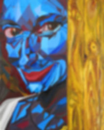 Benedetta Barzini ... , Portrait Painting to Sell, for Sale, Buy Artwork, Affordable Price, Leon 47, XLVII