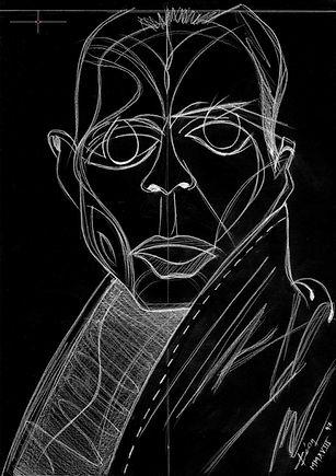 Malgosia Bela by Karim Sadli v.3 - Portrait Drawing Digital Artwork for Sale, to Sell, Buy, Affordable Price