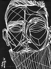 Alisa Ahmann By Txema Yeste C, Modern Minimal Portrait Drawing to Sell, for Sale, Buy Artwork, Affordable Price, Leon 47, XLVII