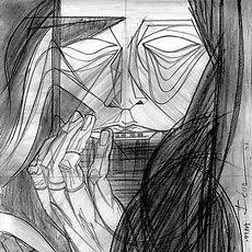 Caroline de Maigret, Tringulism, Portrait Drawing,