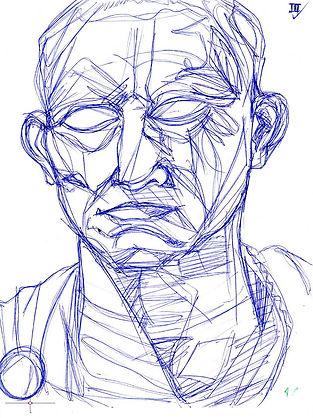 Sketch, Schizzi, Arte Romana, Roman Art, Profile, Profilo, Portrit Sketching, Portrai Drawing, Ritratto Romano