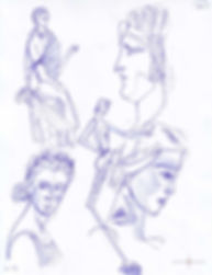 Schizzi, Sketch, Pompei, Roman Art