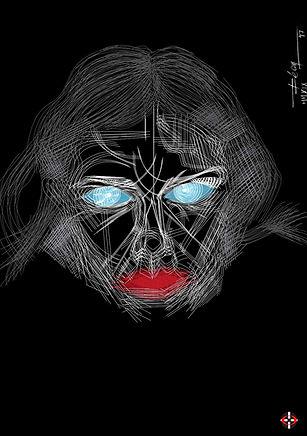 ZARA Lipstick V.D7, Make Up, Makeup, Digital Portrait, Artwork from Fashion Photography, Digital Art, Leon 47, XLVII