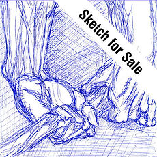 Sketch for Sale Icon, Sketching to Sell, Buy Original and hand signed Print Sketches, Leon 47, Leon XLVI