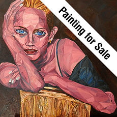 Painting for Sale Icon, Painting to Sell, Buy Original and hand signed Print Hand Painting, Leon 47, Leon XLVII