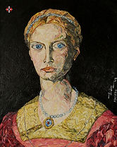 Lucrezia Panciatichi V.2 , Portrait Painting to Sell, for Sale, Buy Artwork, Affordable Price, Leon 47, XLVII