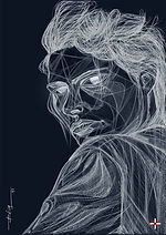 Lynne Koester, Peter Lindbergh V.D2 - Portrait Drawing Digital Artwork for Sale, to Sell, Buy, Affordable Price