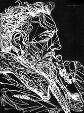 Fidel Castro by Elliott Erwitt Kolor, Modern Minimal Portrait Drawing to Sell, for Sale, Buy Artwork, Affordable Price, Leon 47, XLVII