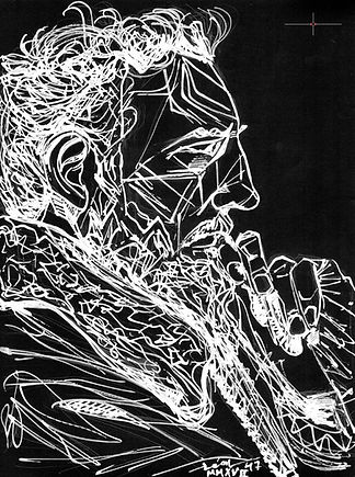 o by Elliott Erwitt Kolor, Modern Minimal Portrait Drawing to Sell, for Sale, Buy Artwork, Affordable Price, Leon 47, XLVII