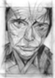 Johnny Holiday by Vincent Perez, Portrait Drawing to Sell, for Sale, Buy Artwork, Affordable Price, Leon 47, XLVII