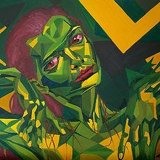 Triangulism Art on Faces, Dynamic Portrait Painting Series, Leon 47, Metafisica
