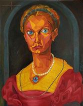 Lucrezia Panciatichi, Agnolo Bronzino, Oil Painting on Canvs,Lucrezia Panciatichi V.2 , Portrait Painting to Sell, for Sale, Buy Artwork, Affordable Price, Leon 47, XLVII