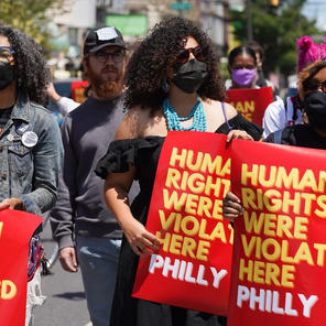 A year after police teargassed 52nd Street, Philadelphia activists and community members call for justice