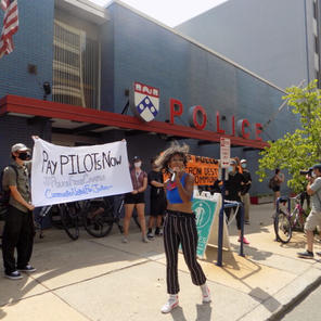 Marchers push Drexel, Penn to dissolve private police forces by 2025