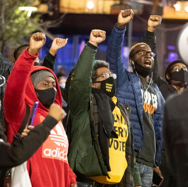 Protesters march in Center City amid election demonstrations and release of bodycam footage of Walter Wallace Jr.'s killing by police