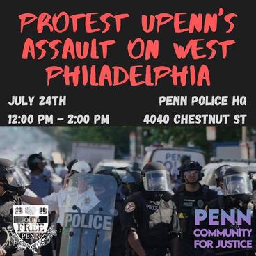 Protest UPenn's Assault on West Philadelphia