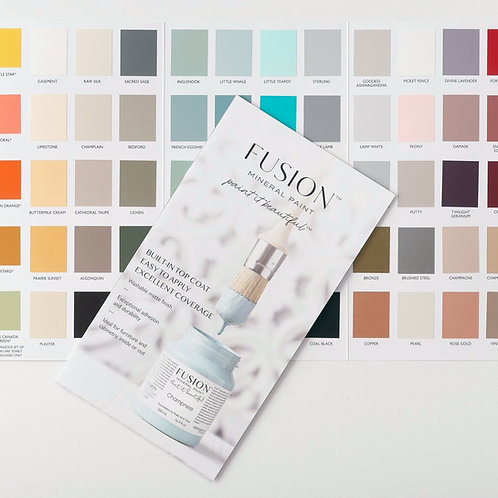 Fusion Colour Card - Real Colour Chips