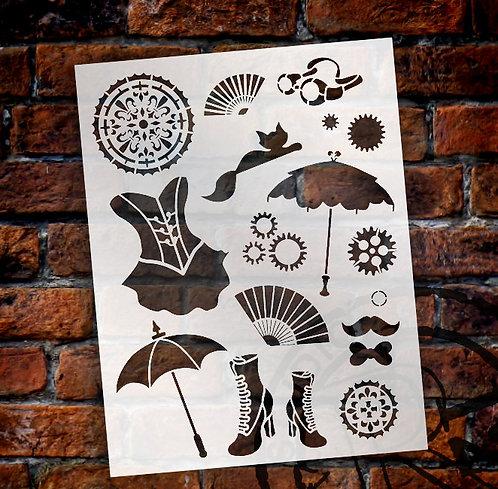 Steampunk Kitty Stencil