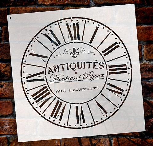 Parisian Clock Stencil