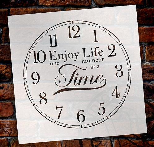 Enjoy Life Clock Stencil