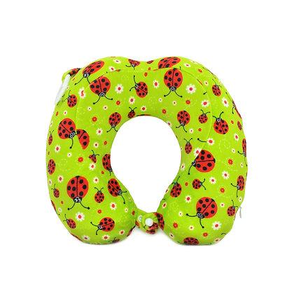 Hugger-Neck-Pillow-For-Kids-Travel-Neck-Pillow-Neck-Support-Pillow-Best-Neck-Pillow-High-Density-Memory-Foam-Ladybirds
