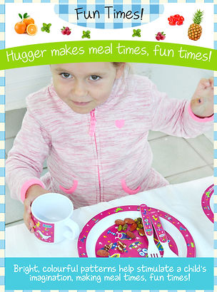 Hugger Cutlery, Dinner Sets, melamine plates, Sippy Cup, baby spoons, baby plates,