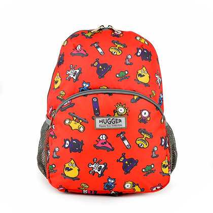 Hugger-Medium-Size-Backpack-Backpack-For-Girls-Daypack-School-Bags-Toddler Backpack-Mini-Backpack-Monsters-Skateboards