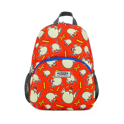 Hugger-Medium-Size-Backpack-Backpack-For-Girls-Daypack-School-Bags-Toddler Backpack-Mini-Backpack-Chicken-Fries