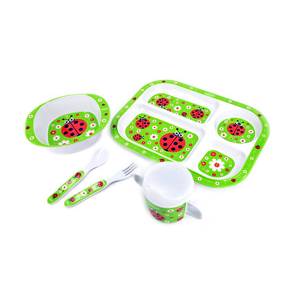 Hugger-Cutlery-Dinner-Sets-Melamine-Plates-Sippy-Cup-Baby-Spoons-Baby-Plates-Ladybirds