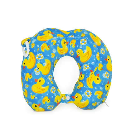 Hugger-Neck-Pillow-For-Kids-Travel-Neck-Pillow-Neck-Support-Pillow-Best-Neck-Pillow-High-Density-Memory-Foam-Yellow-Ducks
