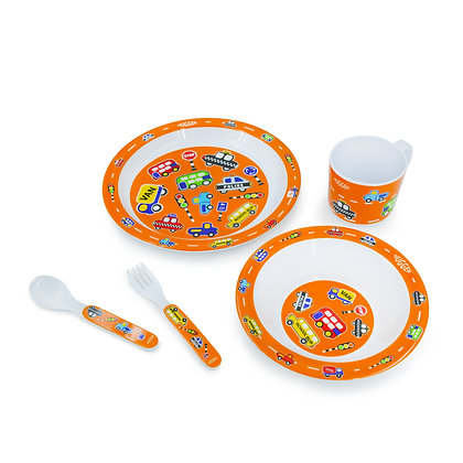 Hugger-Cutlery-Dinner-Sets-Melamine-Plates-Baby-Cup-Baby-Spoons-Baby-Plates-Car-Traffics