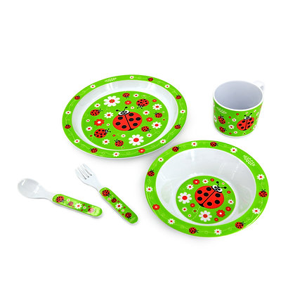 Hugger-Cutlery-Dinner-Sets-Melamine-Plates-Baby-Cup-Baby-Spoons-Baby-Plates-Ladybirds