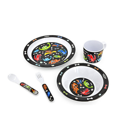 Hugger-Cutlery-Dinner-Sets-Melamine-Plates-Baby-Cup-Baby-Spoons-Baby-Plates-Dinosaurs