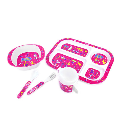 Hugger-Cutlery-Dinner-Sets-Melamine-Plates-Sippy-Cup-Baby-Spoons-Baby-Plates-Birds