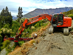 Drilling with continuous auger