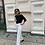 Thumbnail: Удлиненные джинсы в белом цвете