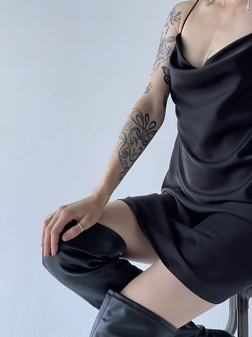 Комбинация мини в чёрном цвете