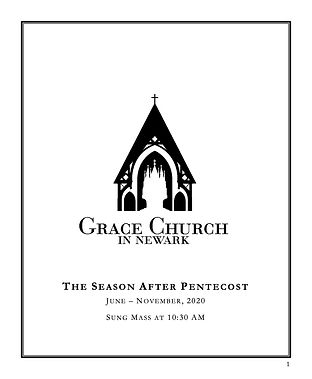 Front Page for Leaflets After Pentecost.