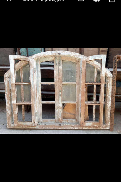 Large White Dome Window