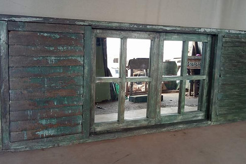 reclaimed furniture architecture architectural element mirrors antique sturdy louver