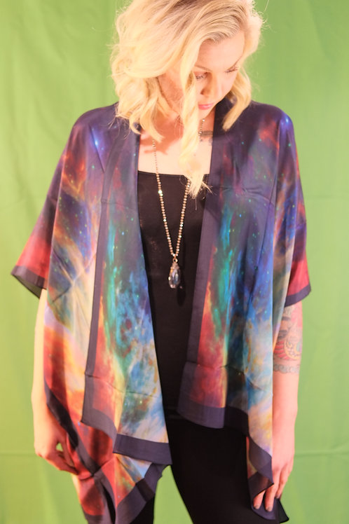 vintage Silk kimono duster throw Tunic Silk style fashion wineries blouse vintage comfortable ladies boutique shopping
