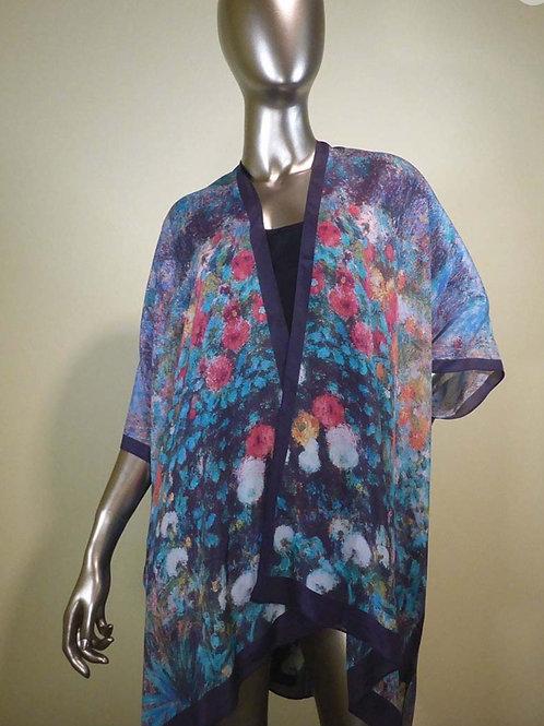 Silk Kimono -Garden Of Rue